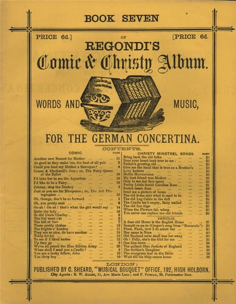 7 - Regondi's Vocal Music (with words) for the German and Anglo-German Concertina