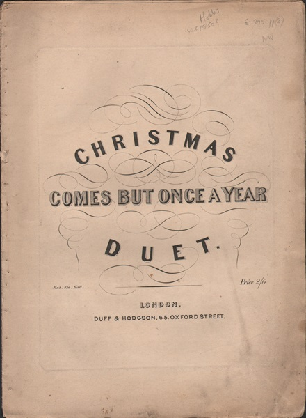 Christmas comes but once a year - vcl.duet/pf.