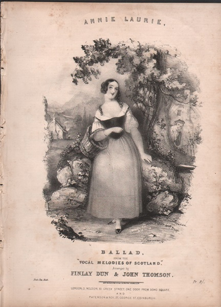 Annie Laurie - song from 'Vocal Melodies of Scotland'
