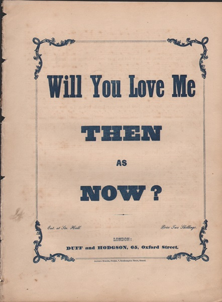 Will You Love me then as Now? - song