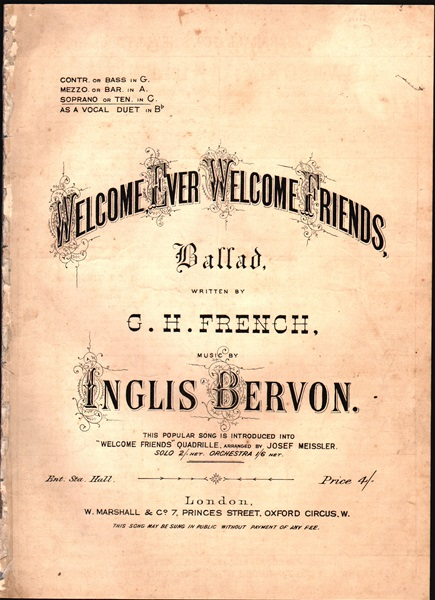Welcome ever Welcome Friends - Ballad