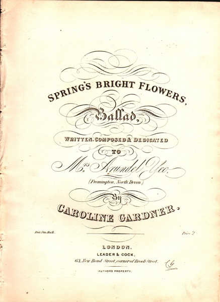 Spring's Bright Flowers - Ballad