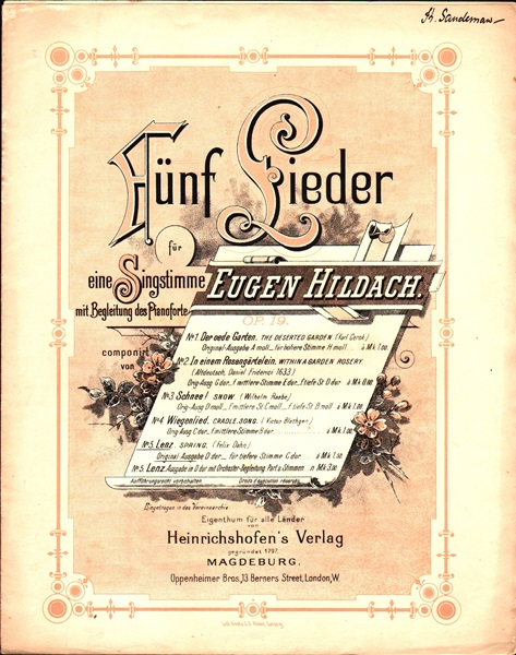 No.5 from Fünf Lieder - Song