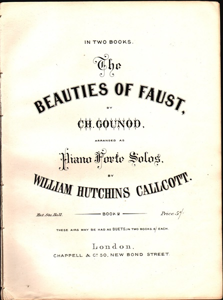 The Beauties of Faust - pf. arrangement