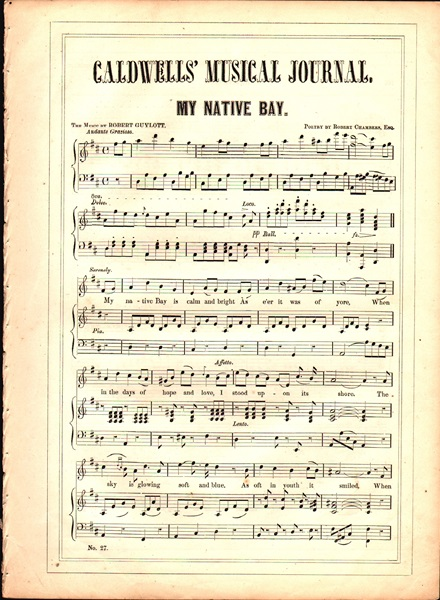 'My Native Bay' - Song
