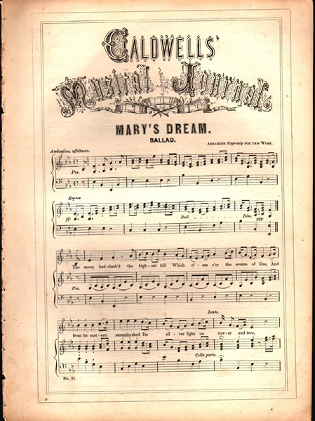 'Mary's Dream' - Ballad