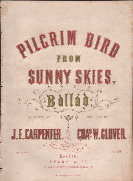 Pilgrim Bird from Sunny Skies - Ballad
