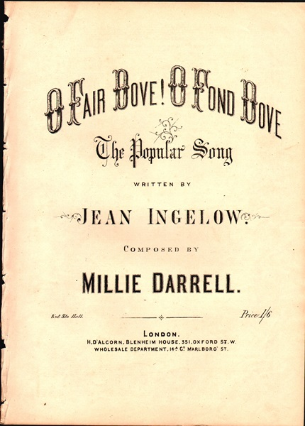 O Fair Dove! O Fond Dove - Song