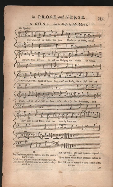 Song and Minuet from 'B.Martin's Miscellaneous Correspondence - 1757 - J.H.Moze