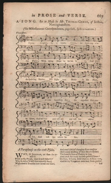 A song from B.Martin's Miscellaneous Correspondence, etc. - 1757 - Thomas Green