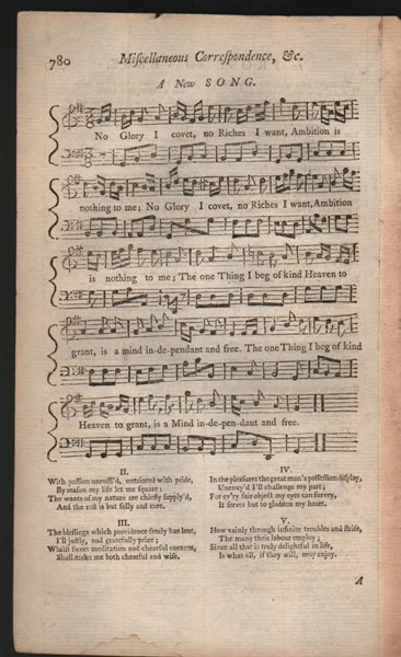 A new Song from B.Martin's Miscellaneous Correspondence, etc. Vol.11 - 1757 - Anon.