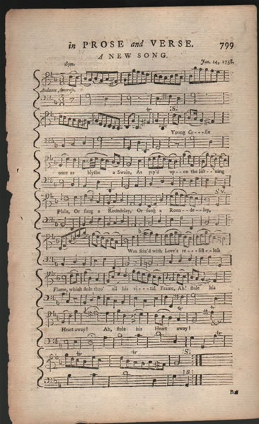 A song from B.Martin's Miscellaneous Correspondence, etc. - 1758 - Robert Hudson