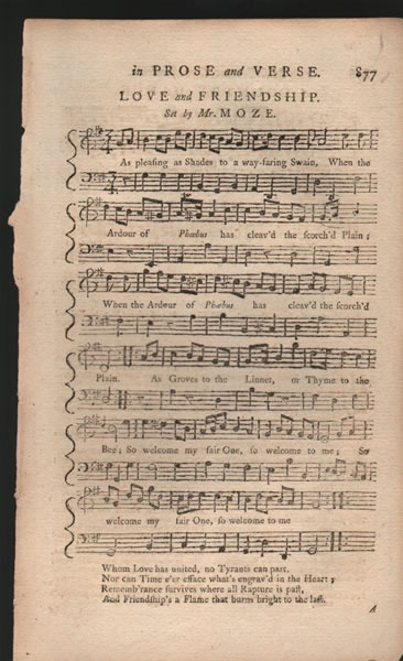 A song, Country Dance and Minuet from B.Martin's Miscellaneous Correspondence - 1758 - Mr.Moze/Anon