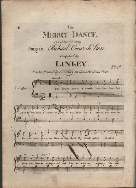 The Merry Dance - a celebrated dance - Linley