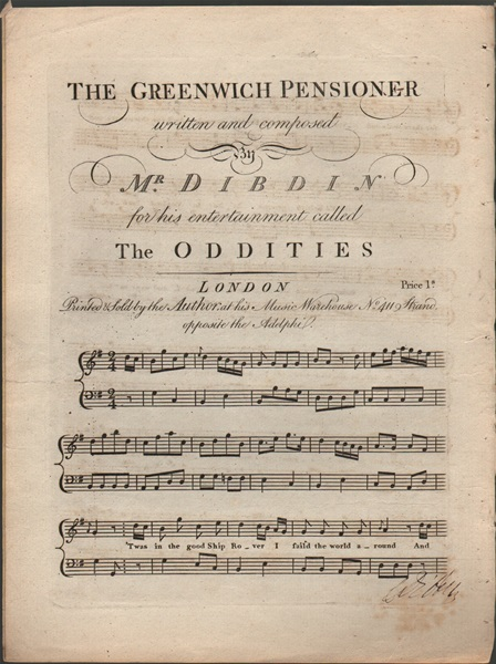 The Greenwich Pensioner - song from 'The Oddities'