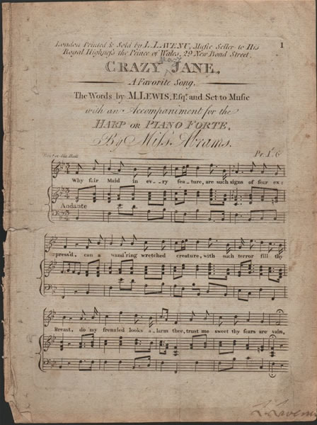 Crazy Jane - song - Abrams