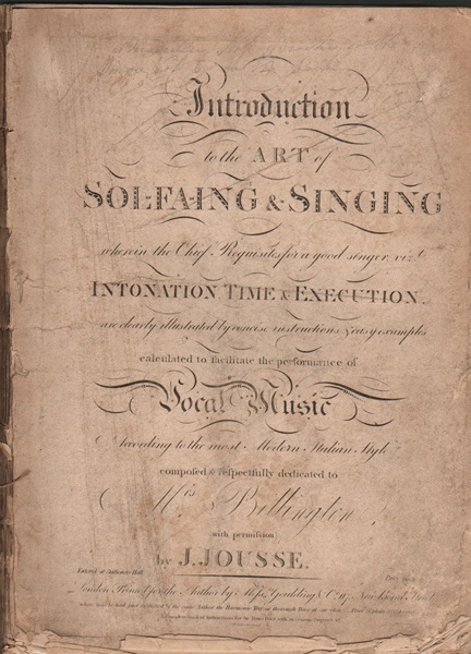 Introduction to the Art of Sol-Fa-Ing & Singing - J.Jousse