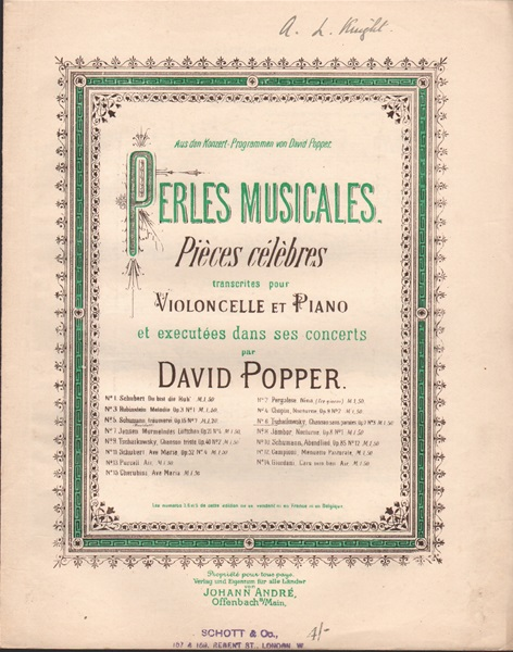 Chanson sans Paroles - Op.2 vcl./pf.