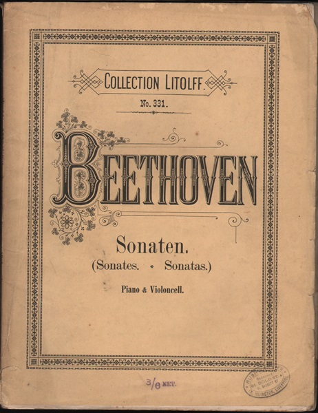 Beethoven - 6 sonatas for vcl. and pf.
