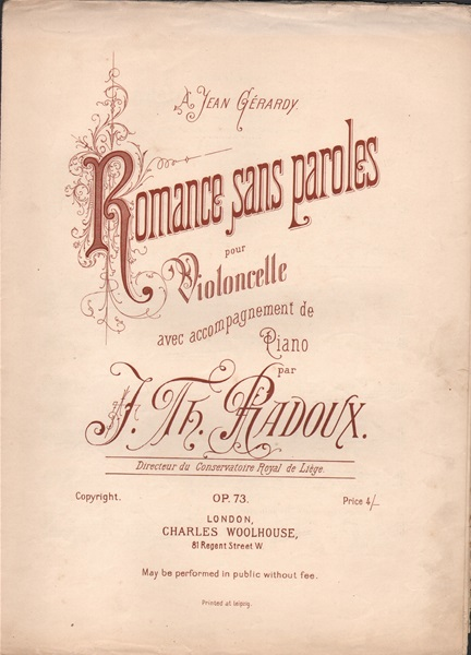 Romance sans paroles - vcl./pf.