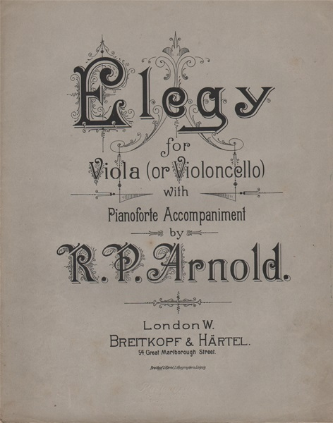 Elegy - for Viola or Violoncello/pf.