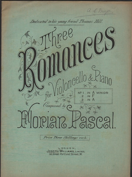 Three Romances - No.3 - vcl./pf.