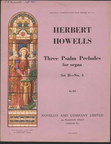 Three Psalm Preludes for Organ- set 2