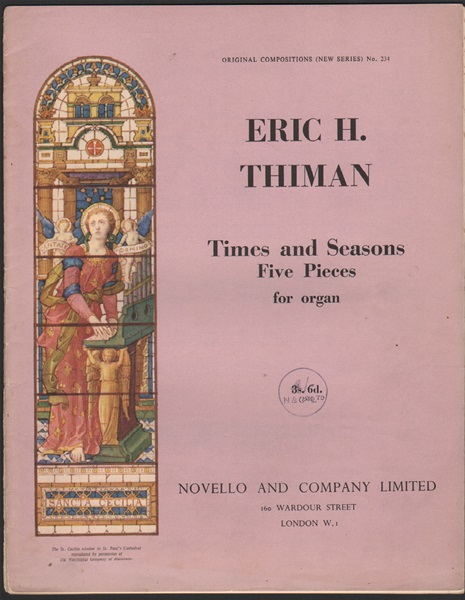 Times and Seasons- 5 pieces for Organ