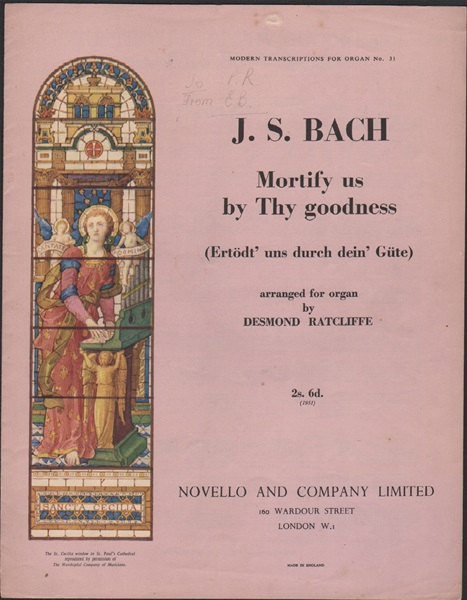 Mortify us by Thy goodness - Organ