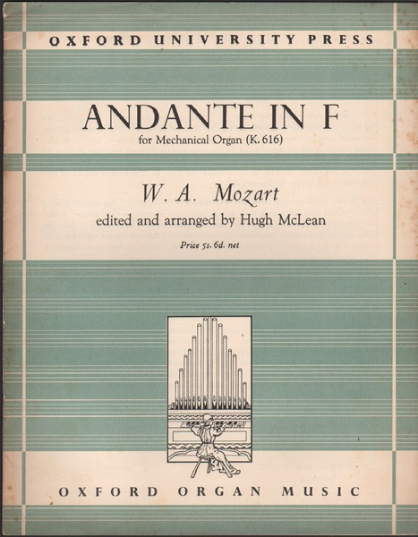 Andante in F for mechanical organ