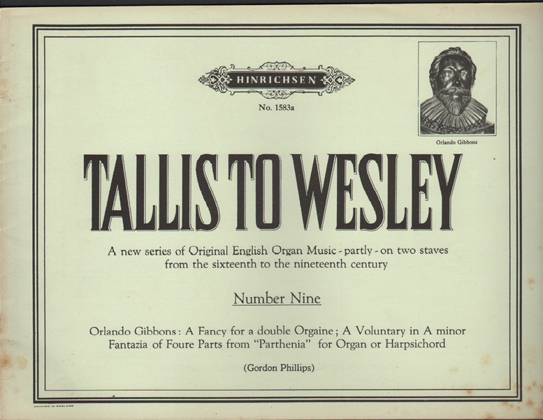 Tallis to Wesley - No.9 - Organ