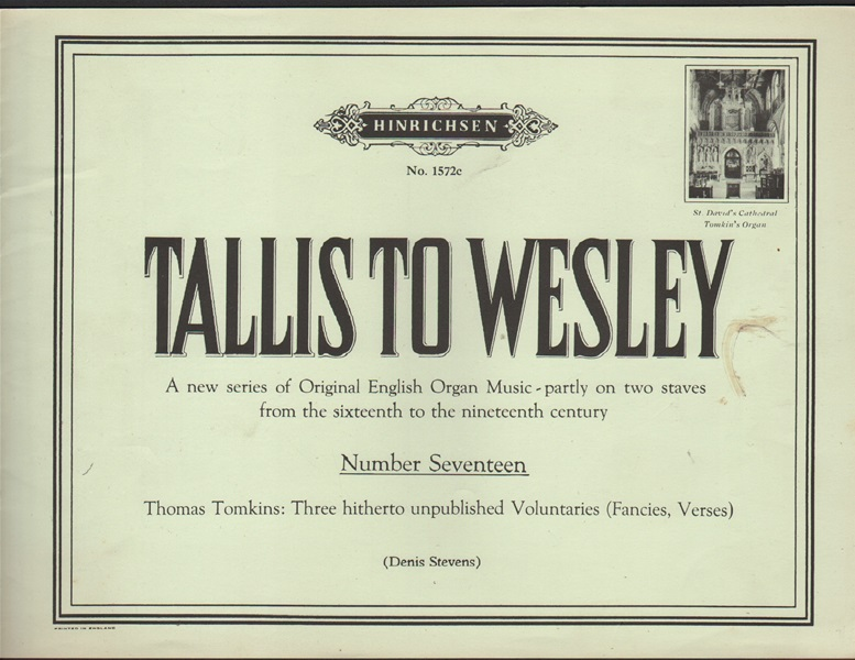 Tallis to Wesley - No.17 - Organ