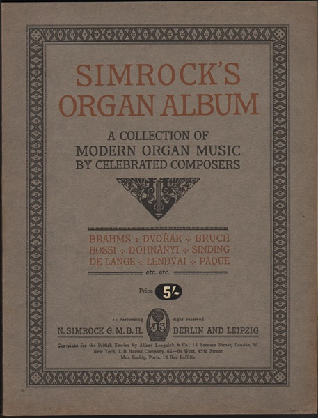 Simrock's Organ Album - 1908