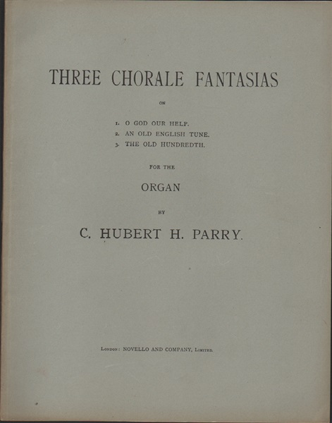 Three Chorale Fantasias - Organ