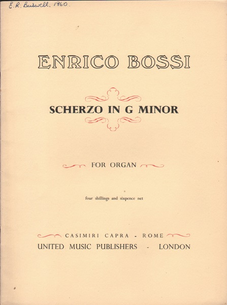 Scherzo in g minor