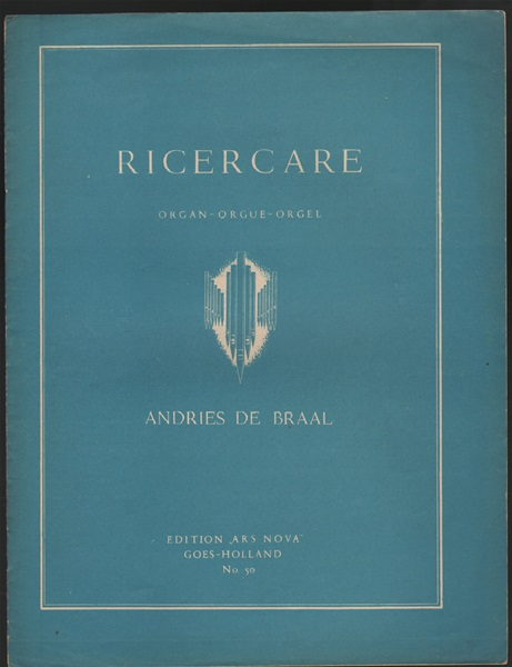 Ricercare for organ