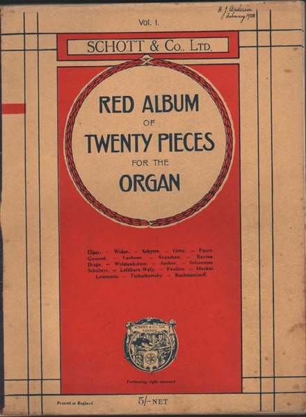 Red Album - 20 pieces for organ