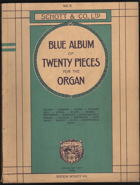 Blue Album - 20 pieces for organ Vol.2