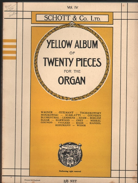 Yellow Album - 20 pieces for organ - Vol.4