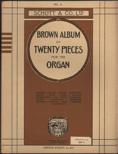 Brown Album - 20 pieces for organ - Vol.5