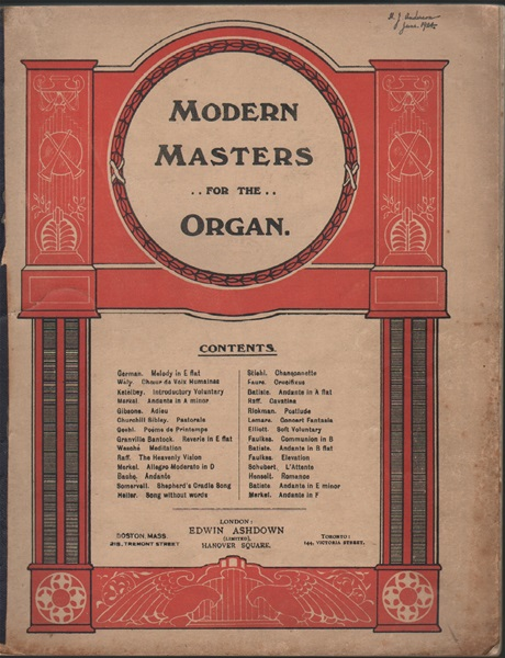 Modern Masters for the Organ