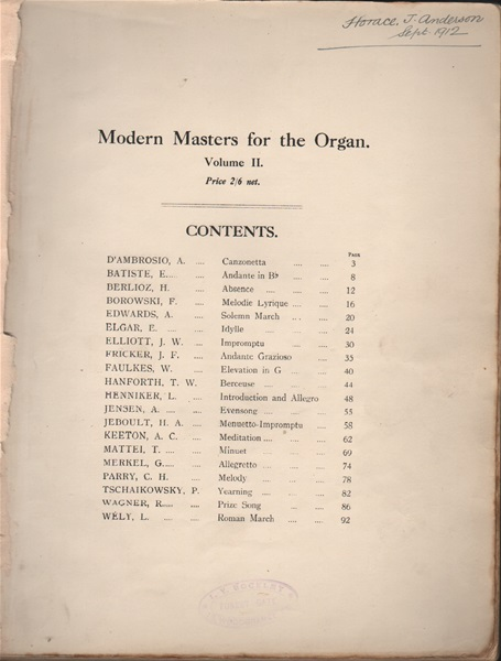 Modern Masters for the Organ - Vol.2