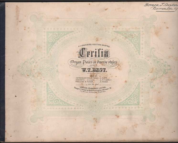 Cecilia Organ pieces in diverse styles - edited by W.T. Best              W.T.Best