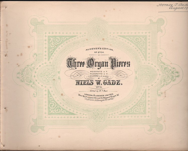 Organ pieces in diverse styles - Gade, Op.22