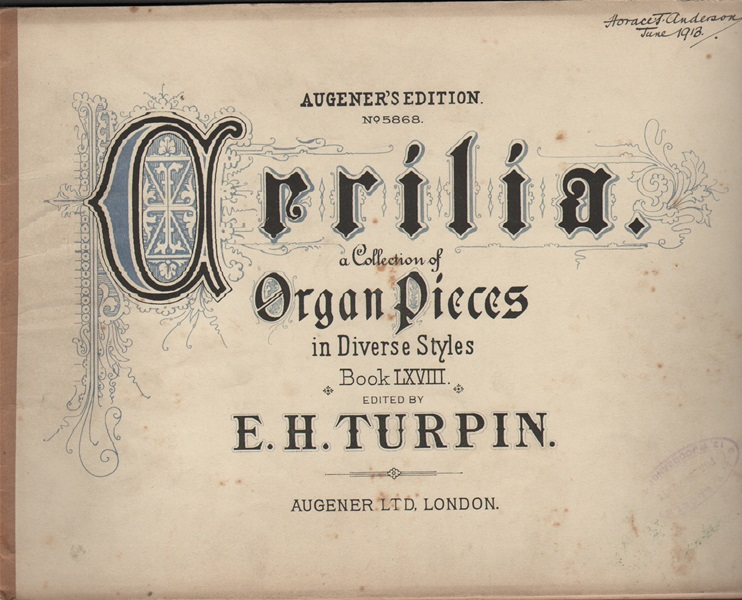 Organ pieces in diverse styles - edited by E.H. Turpin- Bk.68