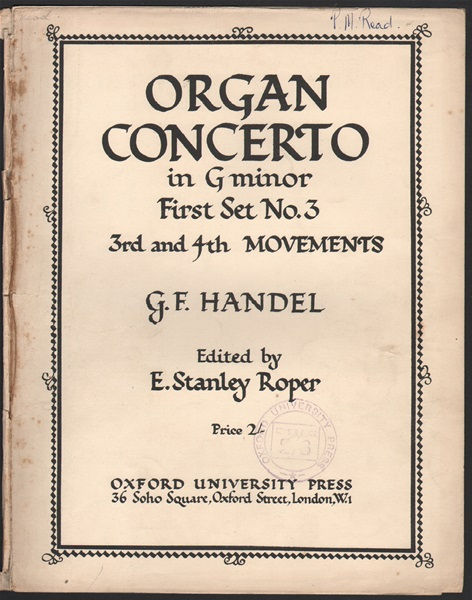 Organ Concerto in G minor