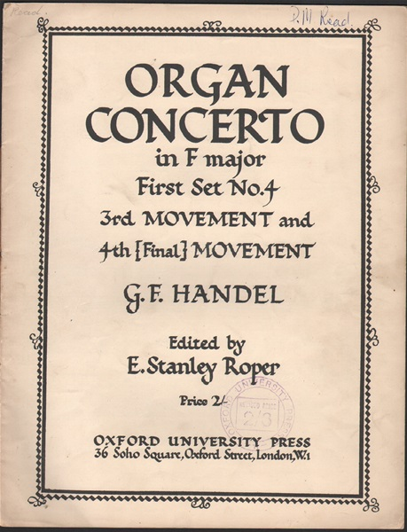 Organ Concerto in F major