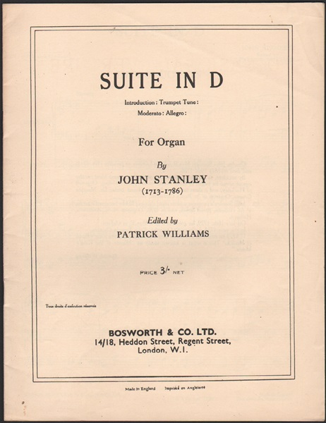 Suite in D - for Organ