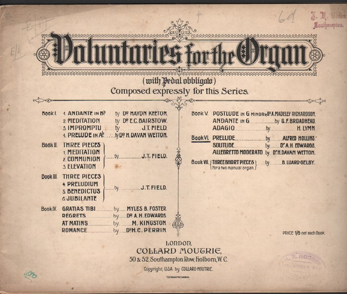 Voluntaries for the Organ