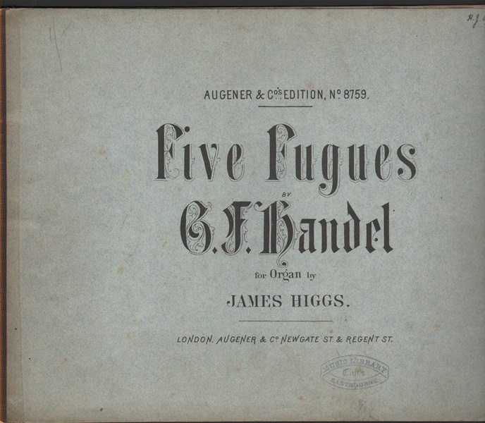 Five Fugues for Organ - Handel